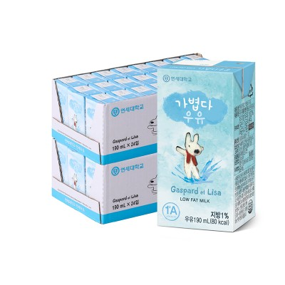 가볍다 우유 190ml (48팩)