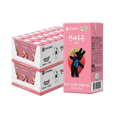 딸기 멸균 우유 190ml (48팩)