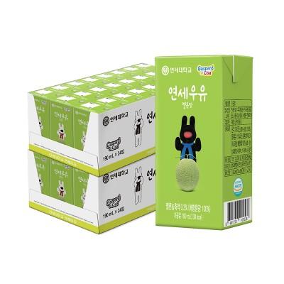 멜론 멸균 우유 190ml (48팩)