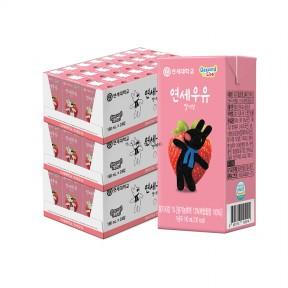 딸기 멸균 우유 190ml (72팩)