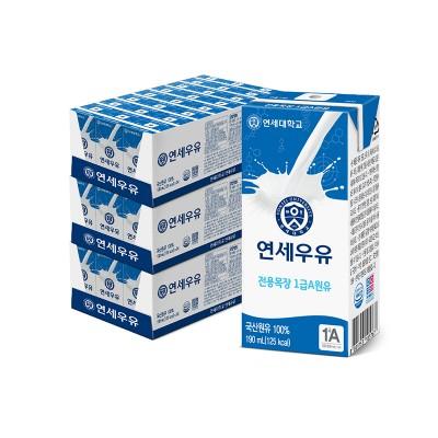 멸균 흰우유 190ml (72팩)
